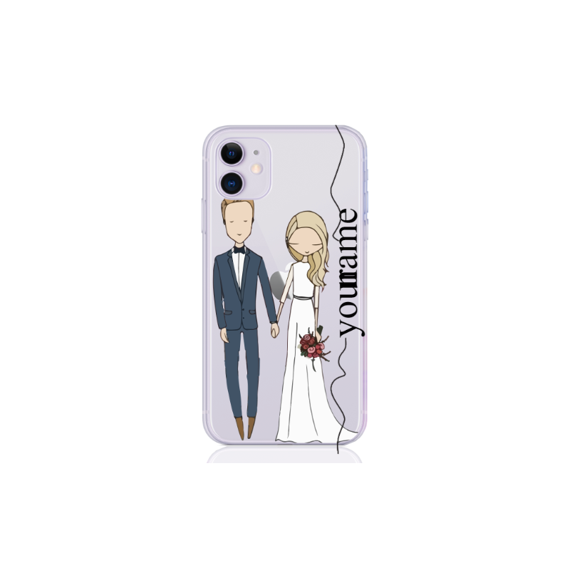 wedding couple blonde line