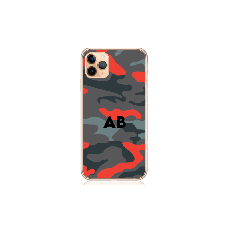 Camouflage orange letter