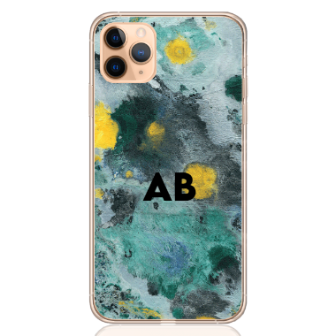 abstract camouflage green letter