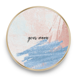 QI charger marble rose blu