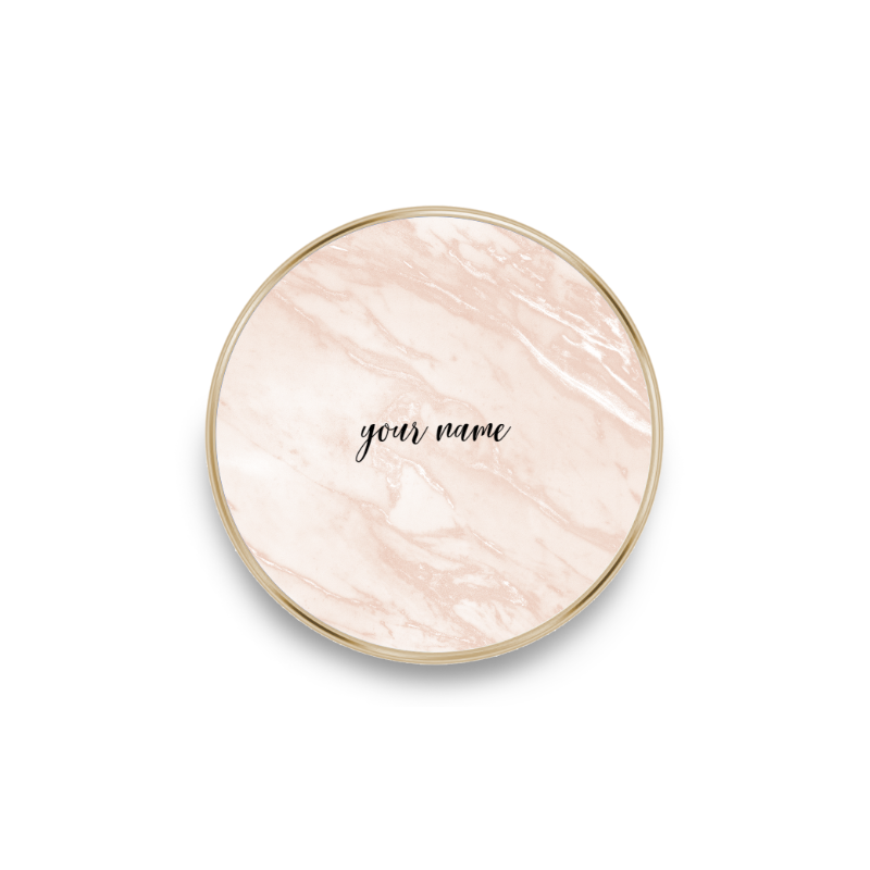 QI charger marble rose