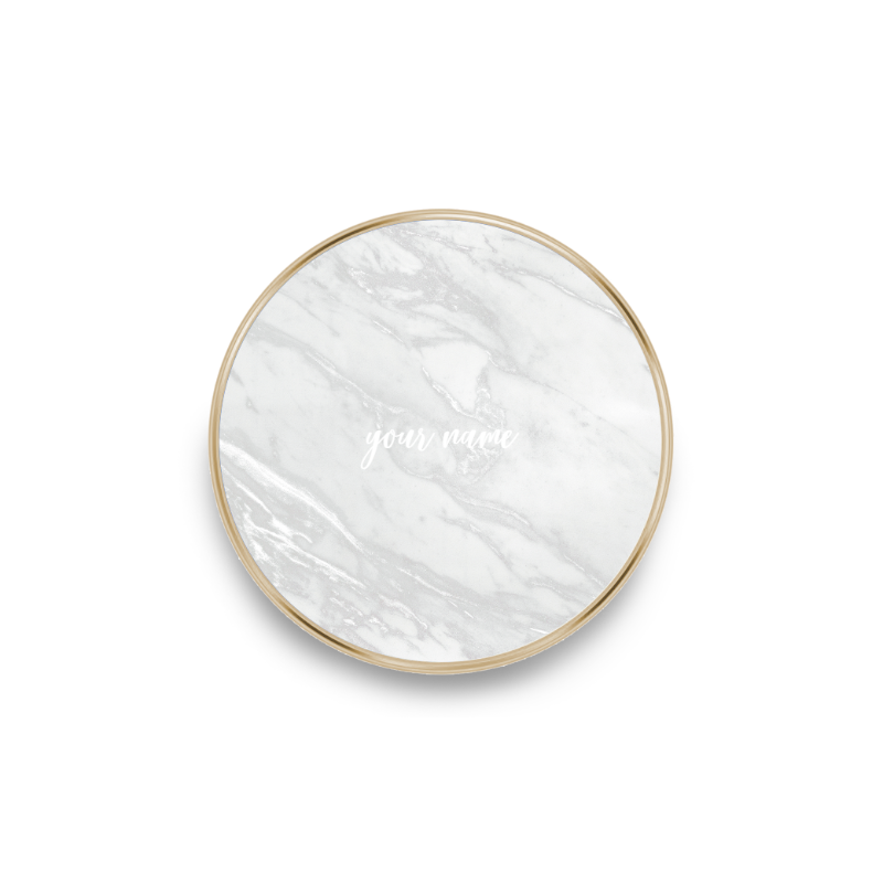 QI charger marble white