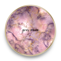 QI charger marble rose gold