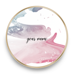 qi charger marble rose azure