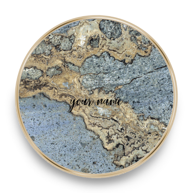 qi charger marble blue grey