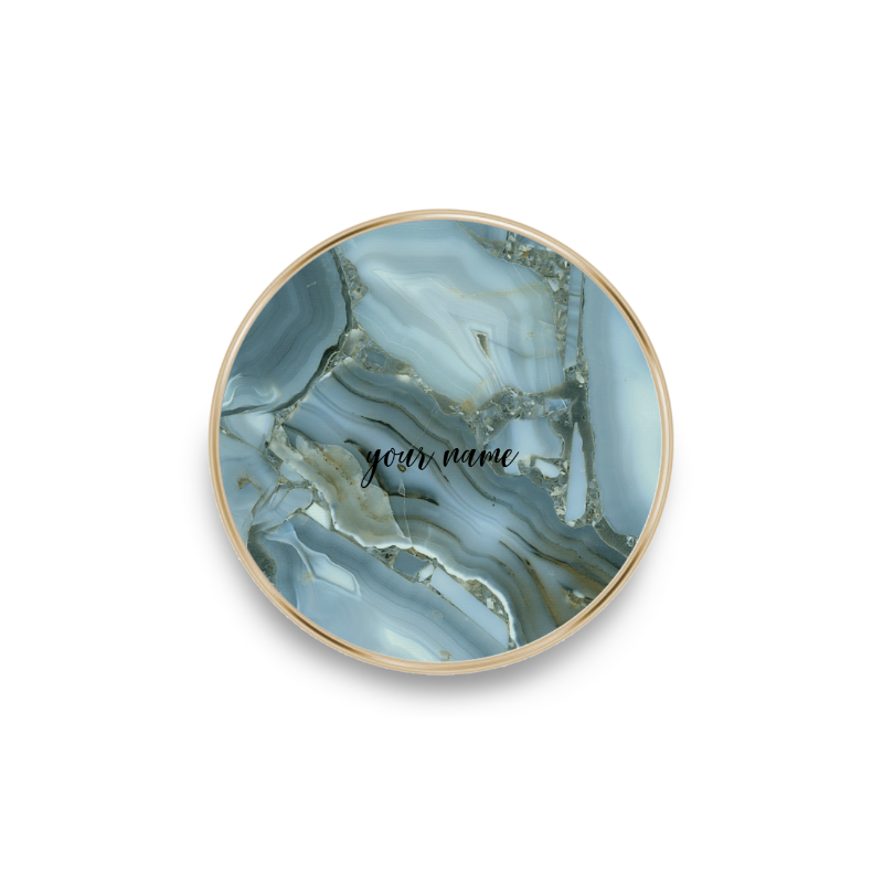 qi charger marble deep blue