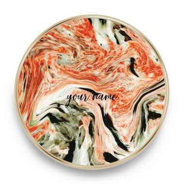 qi charger marble orange