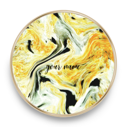 qi charger marble yellow