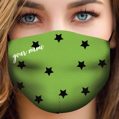 be mask green stars black