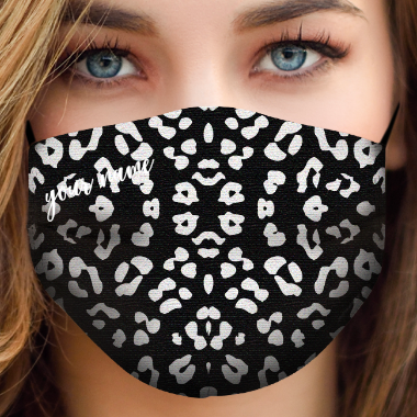 be mask animalier black white