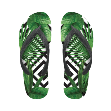 flip flop green jungle with name