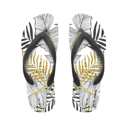flip flop gold palm with name