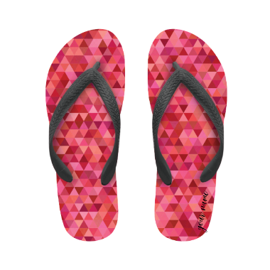 flip flop pink camouflage with name