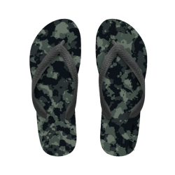 flip flop green camouflage with name