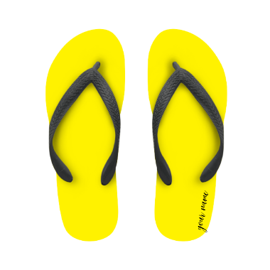 flip flop yellow with name