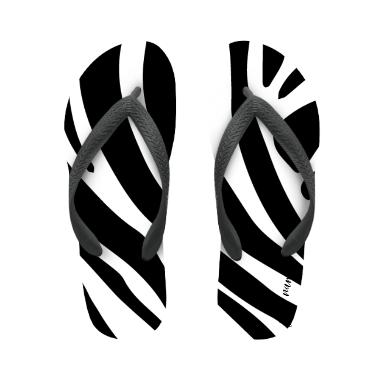 flip flop zebra with name