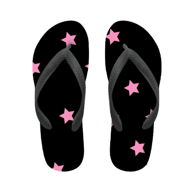 flip flop star pink with name