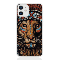 Lion aztec white letter low for apple