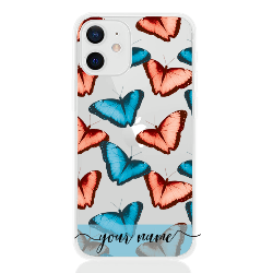 Butterfly Pastel Blu Name Low for apple