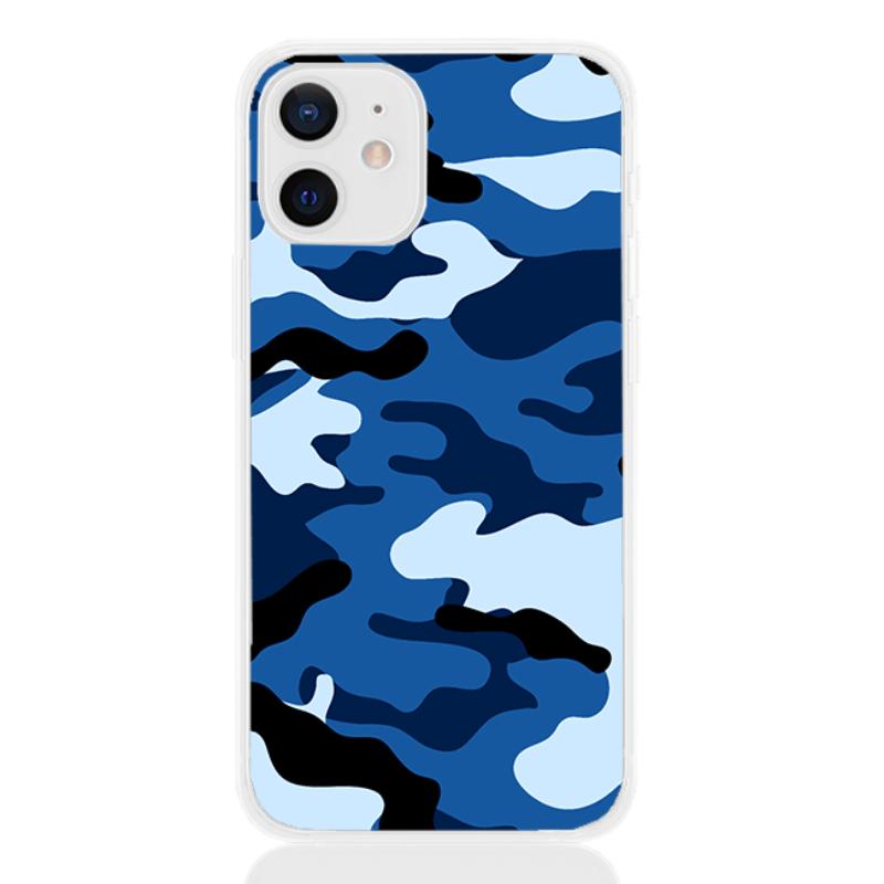 Camouflage blue letter for apple
