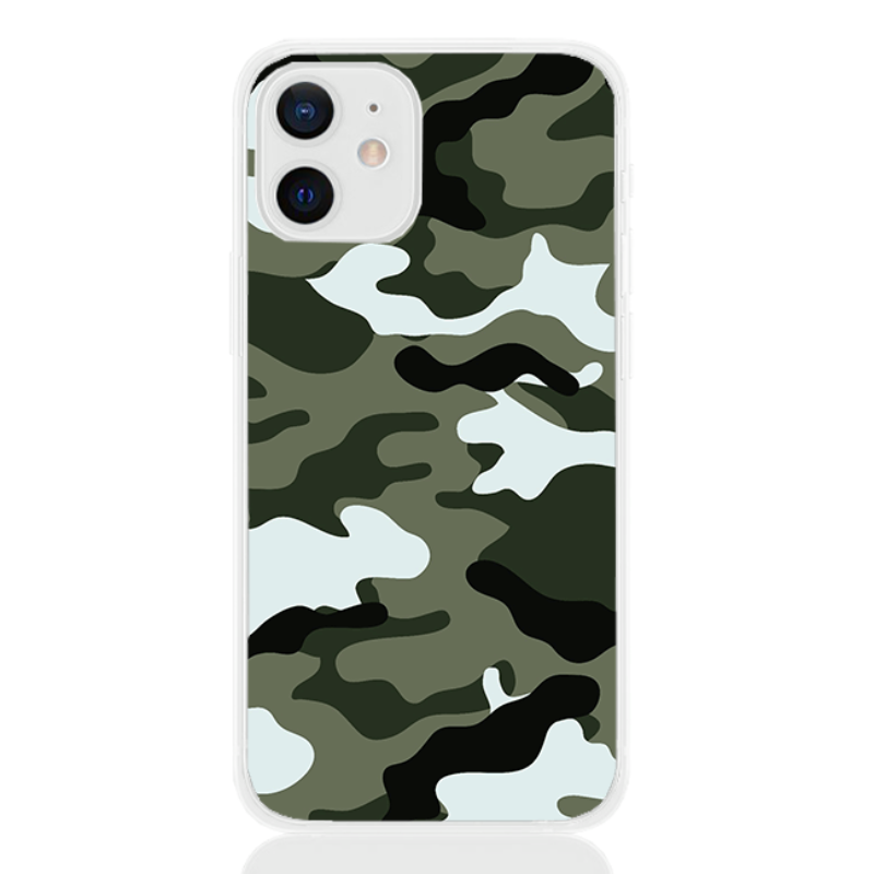 Camouflage green letter for apple