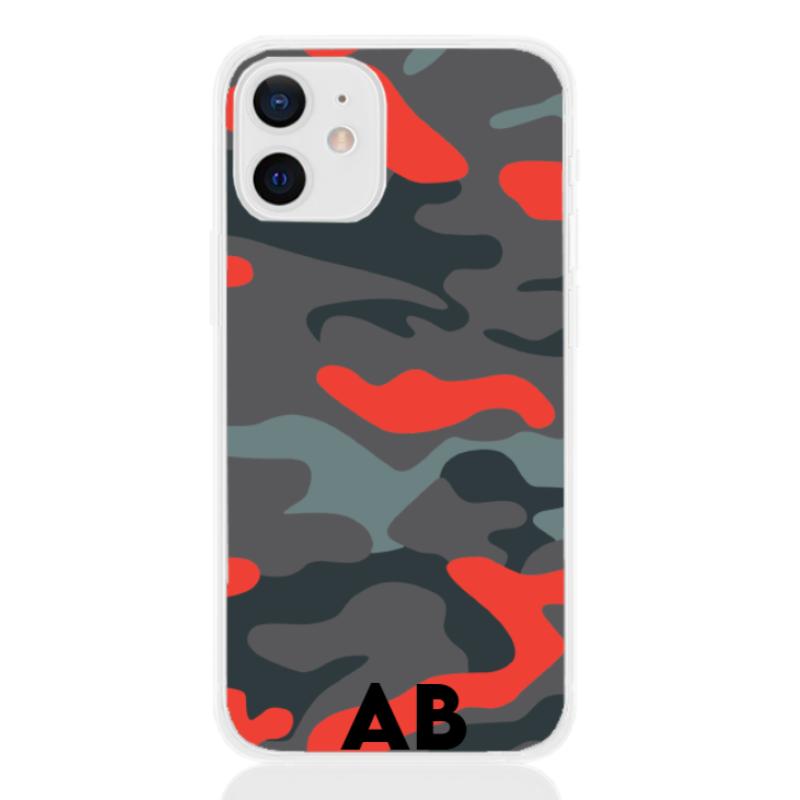 Camouflage orange letter for apple
