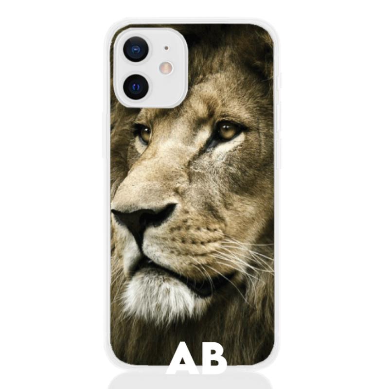 lion face white letter low for apple