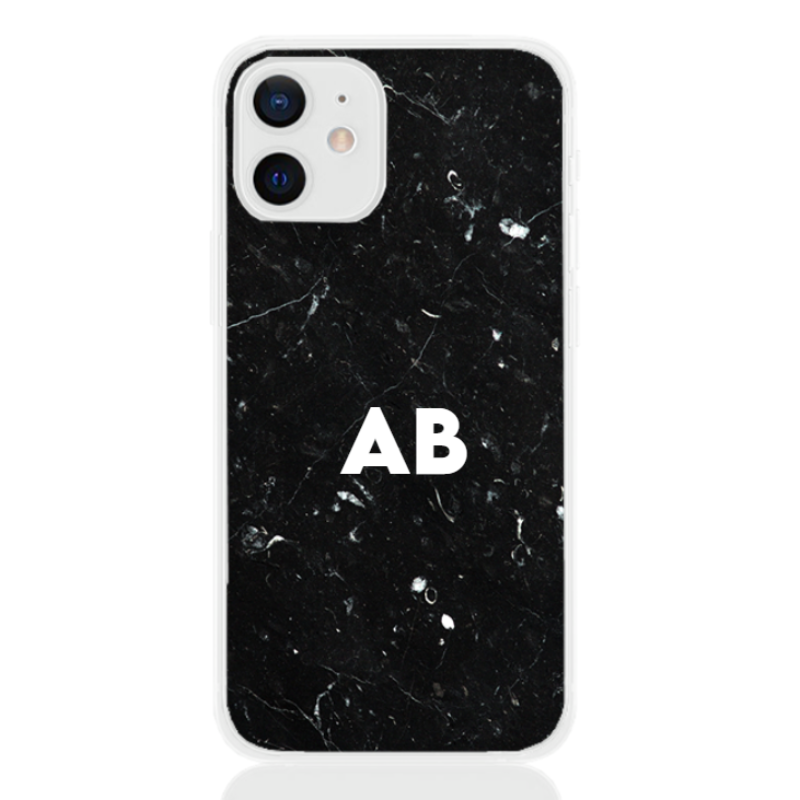 marble black white letter for apple