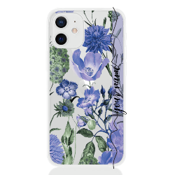 romantic flower blu line