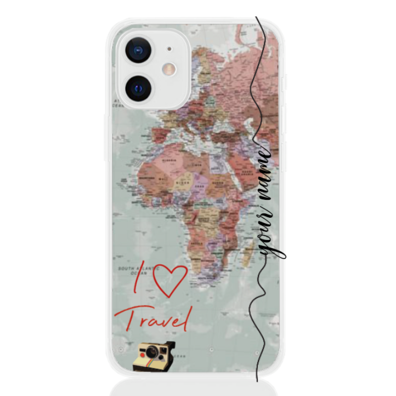 Travel World Colored Line for apple