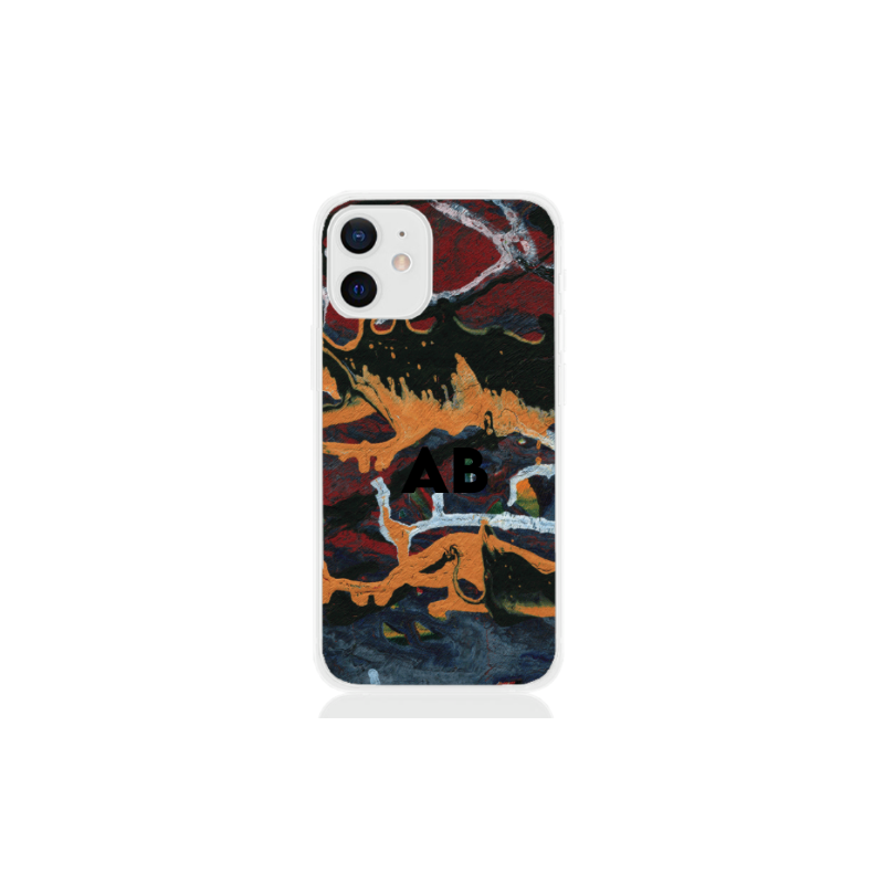abstract camouflage black letter