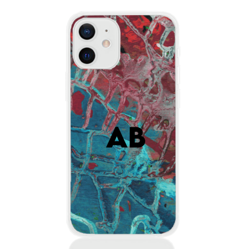 abstract camouflage azure letter for apple