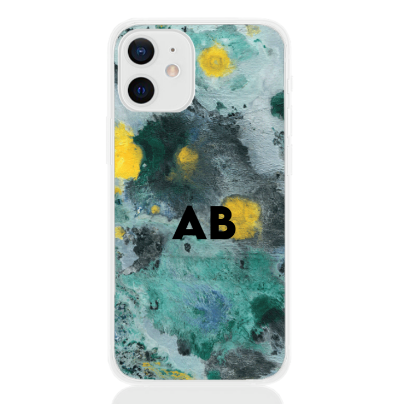 abstract camouflage green letter for apple