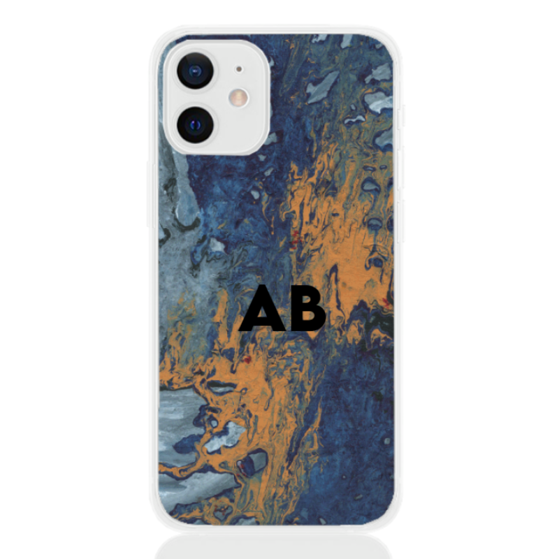 abstract camouflage orange letter for apple