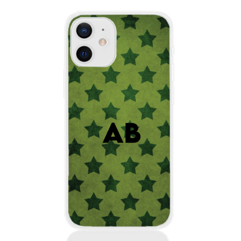 star camouflage green letter for apple