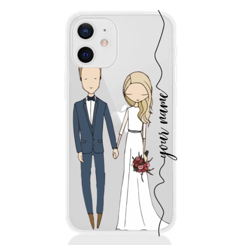wedding couple blonde line for apple