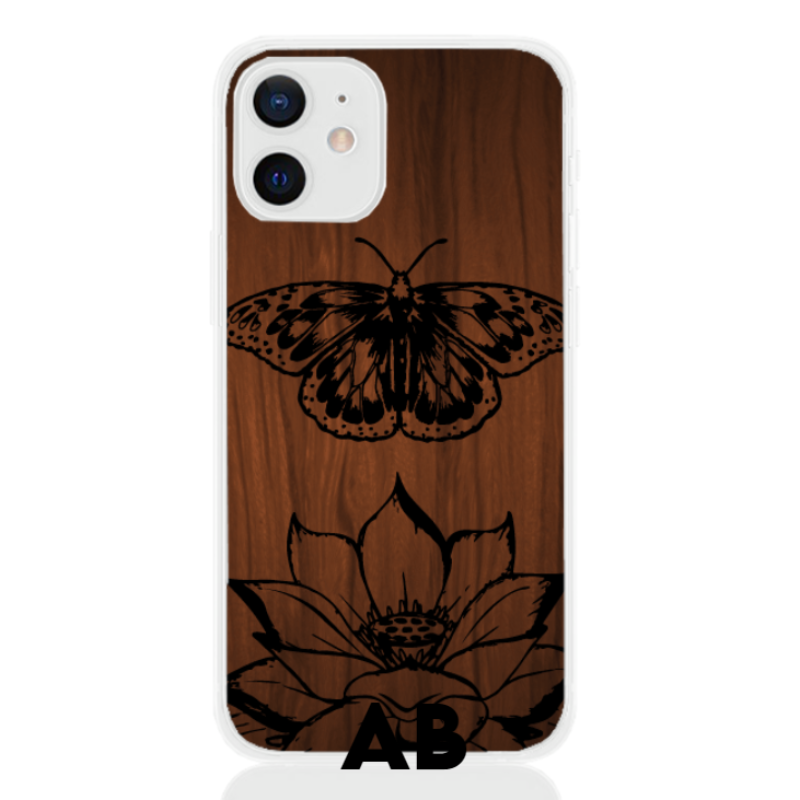 butterfly wood letter low for apple