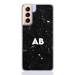marble black white letter