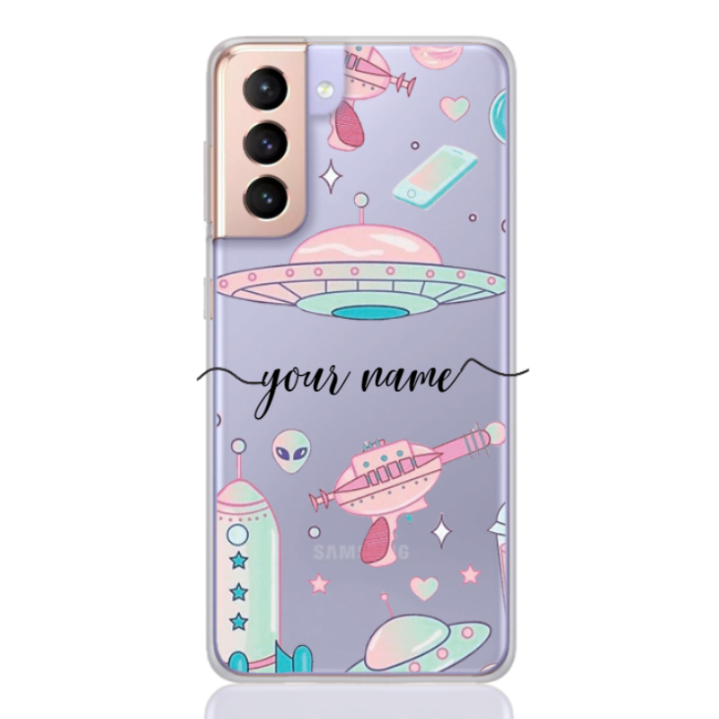 Space Pattern Rose Name for samsung