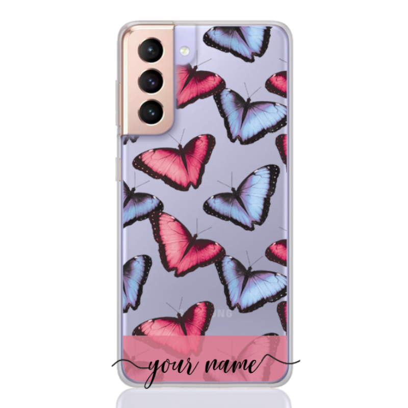 Butterfly Pastel Rose Name Low for samsung