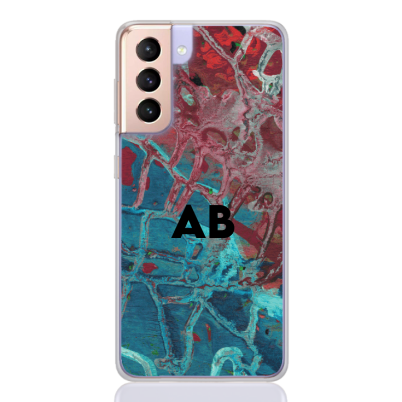 abstract camouflage azure letter for samsung
