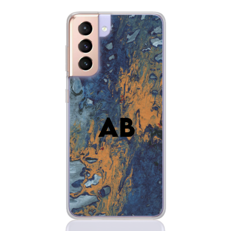 abstract camouflage orange letter for samsung