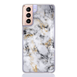 marble white gold line for samsung