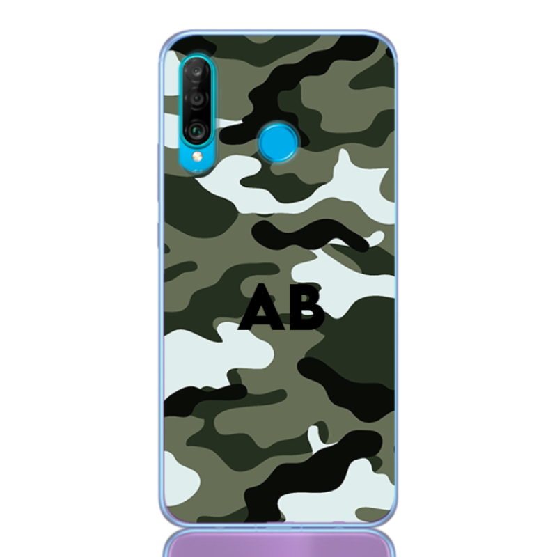Camouflage green letter for huawei