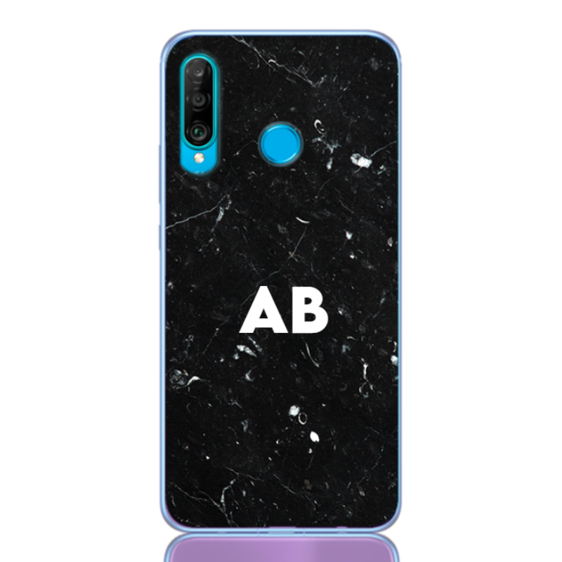 marble black white letter for huawei