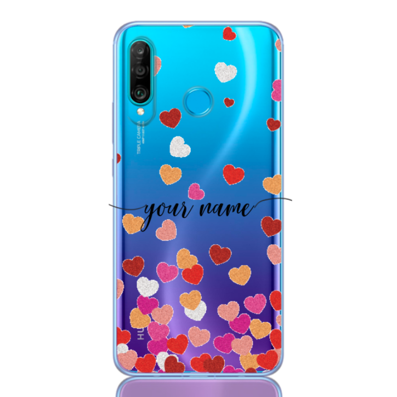 red color hearts name for huawei