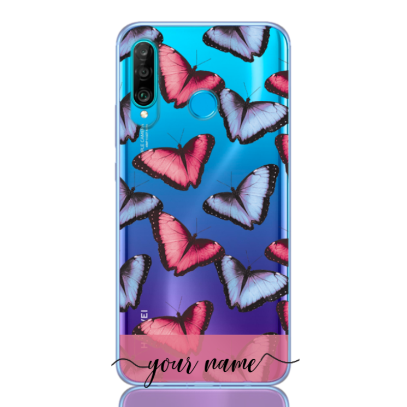 Butterfly Pastel Rose Name Low for huawei