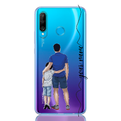 dad and son line for huawei