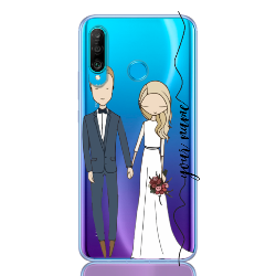 wedding couple blonde line