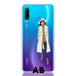 girl in trench letter low for huawei